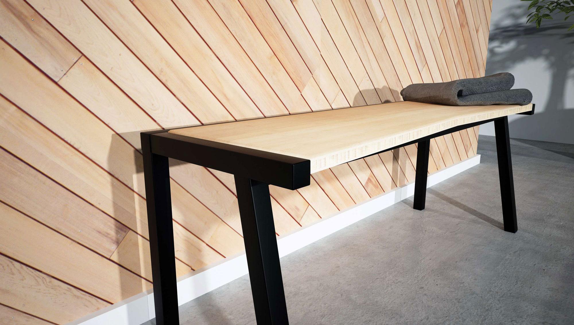 banc en bambou. Black Bedroom Furniture Sets. Home Design Ideas