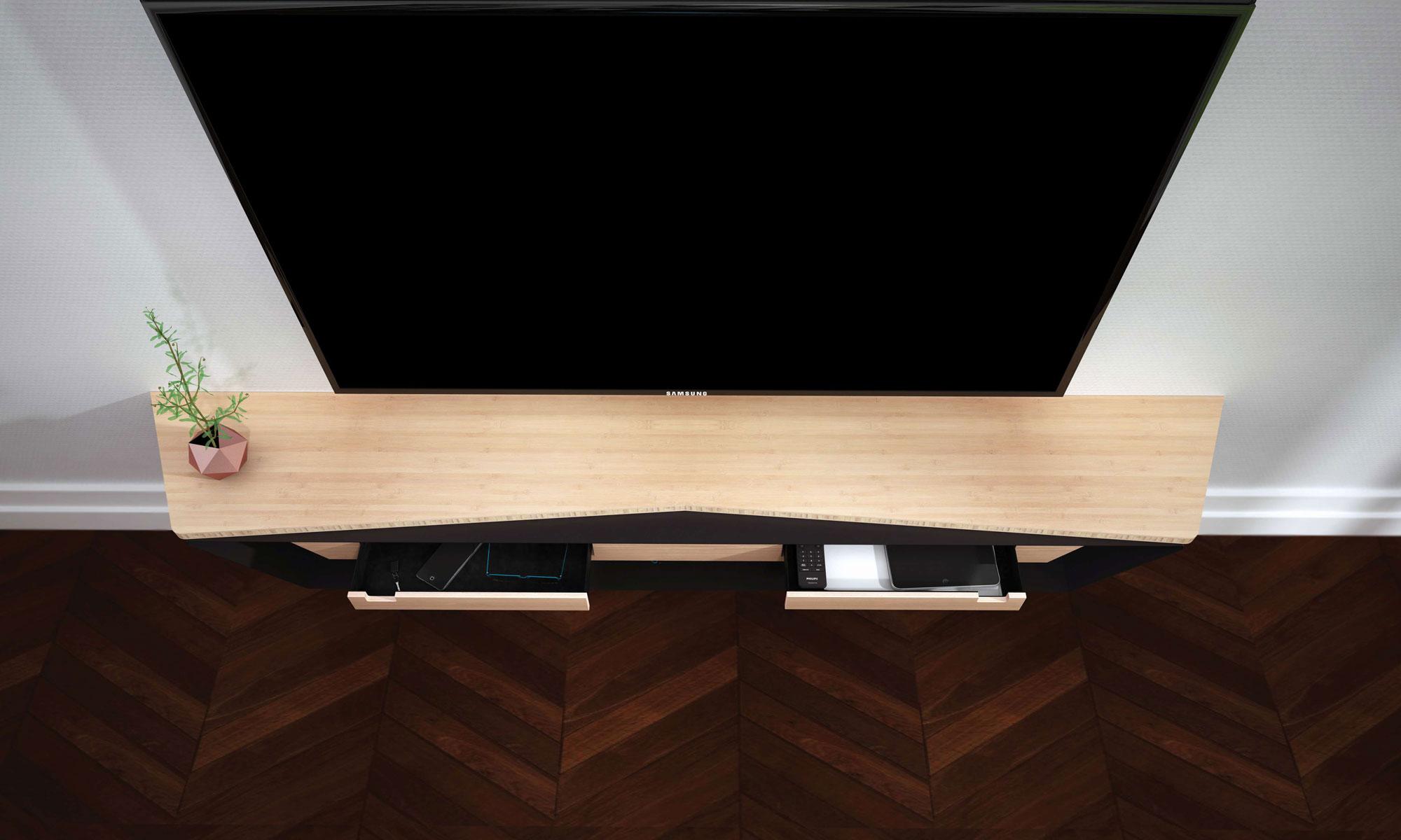 lilliac / meuble tv ? baru design - Meuble Design Com